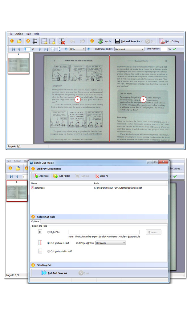 A professional desktop application which breaks PDF file pages